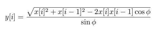 AM demodulation formula